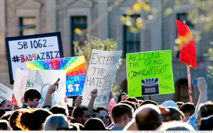 Protests against Arizona anti-gay bill